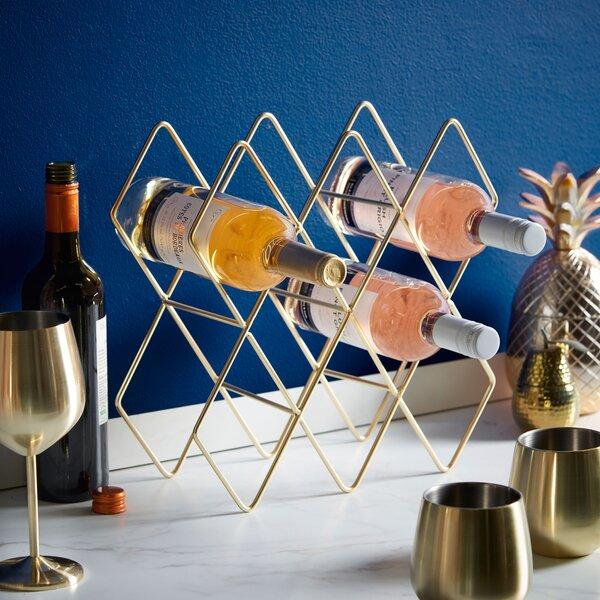 Freestanding 10 Bottle Tabletop Wine Rack by VonShef