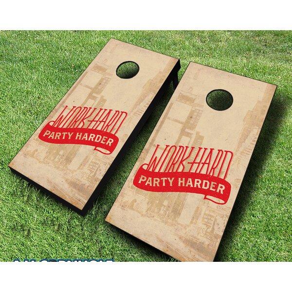 10 Piece Party Harder Cornhole Set by AJJ Cornhole