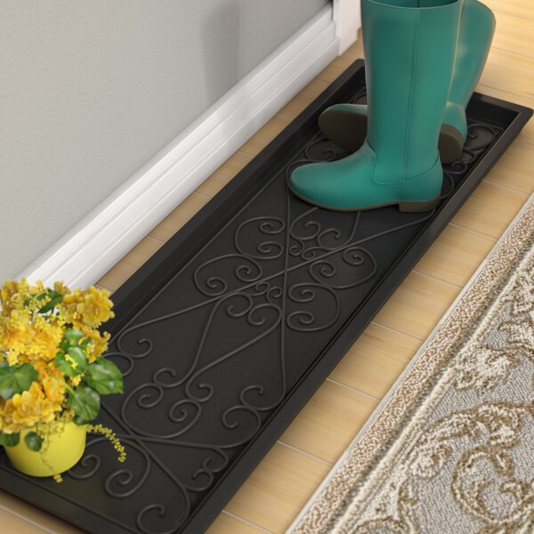 Lori Large Rubber Scrollwork Boot Tray by Fleur De Lis Living