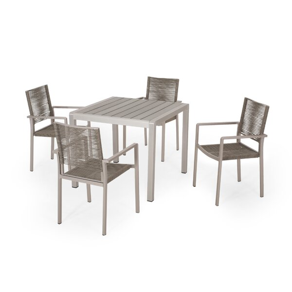 Arthur Outdoor 5 Piece Dining Set by Bay Isle Home