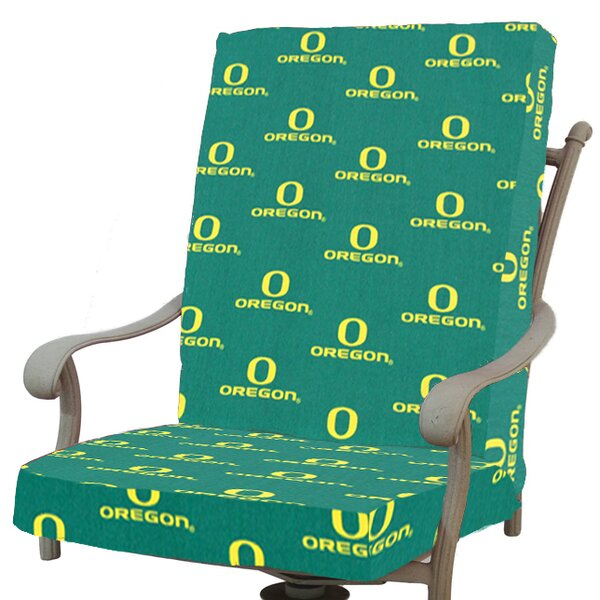 NCAA Oregon Indoor/Outdoor Dining Chair Cushion by College Covers