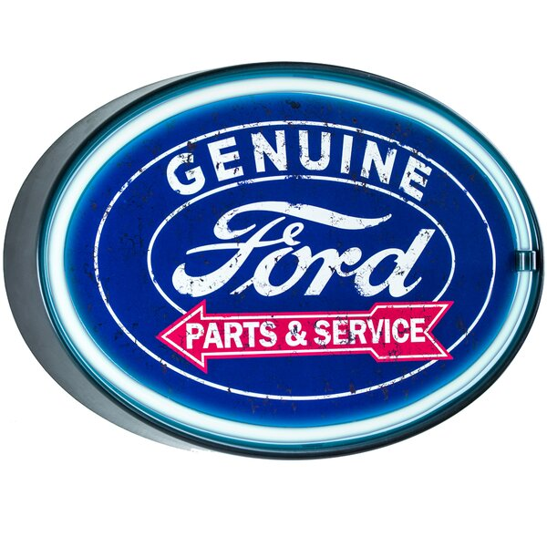 Ford Man Cave Bar Garage Marquee Sign by Crystal Art Gallery