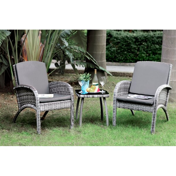 Leblanc 3 Piece Bistro Set with Cushions by Red Barrel Studio