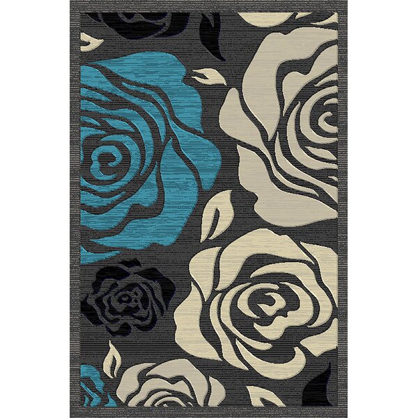 Cosper Blue/Gray Area Rug by Ebern Designs