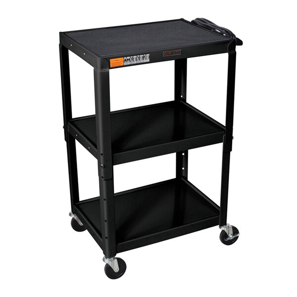 H Wilson Adjustable Height AV Cart by Luxor