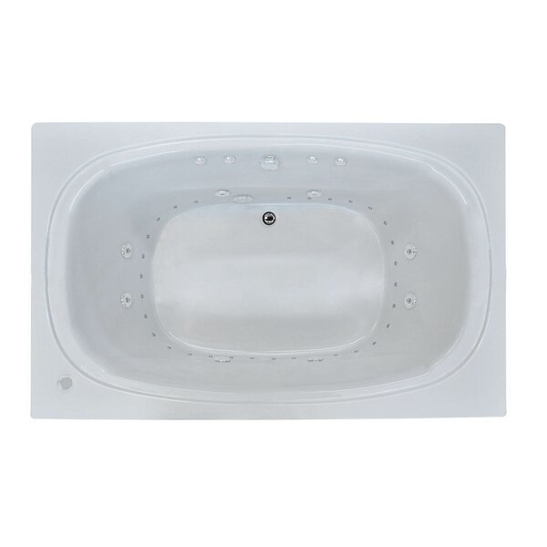 St. Kitts 71 x 41.25 Rectangular Air & Whirlpool Jetted Bathtub with Drain by Spa Escapes