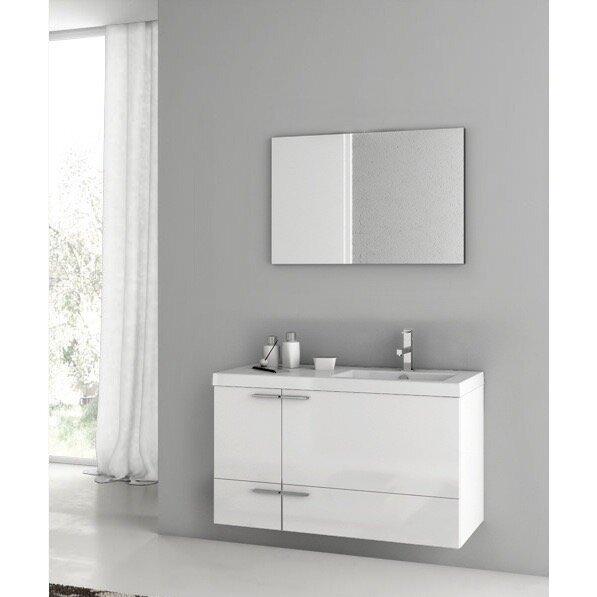 Letourneau 39 Single Bathroom Vanity Set with Mirror