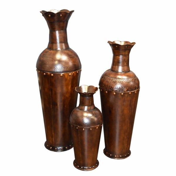 Auttenberg 3-Piece Metal Pot Planter Set (Set of 3) by Bloomsbury Market