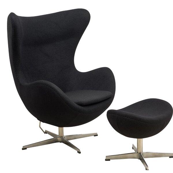 Fennell Swivel Lounge Chair with Ottoman by Orren Ellis