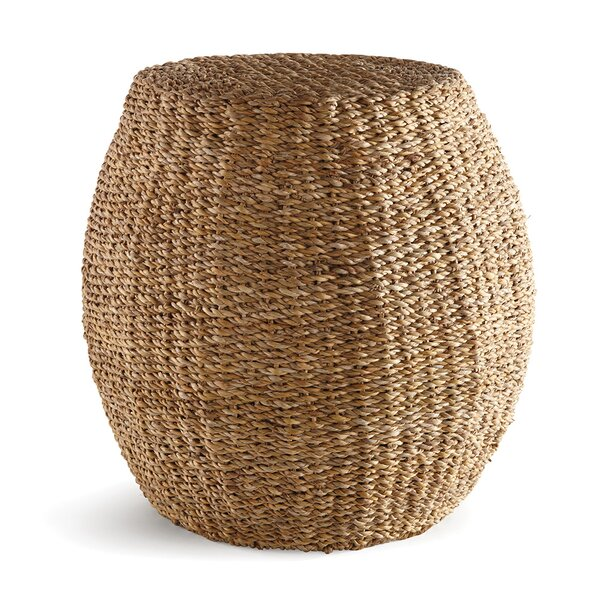 Keeneland Upholstered Hourglass Pouf by Bay Isle Home
