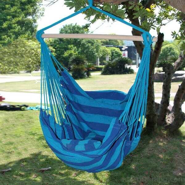 Kemp Naval-Style Cotton Fabric Canvas Chair hammock by Longshore Tides