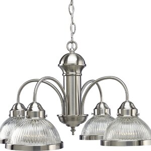 Welsey 4-Light Shaded Chandelier