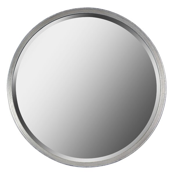 Round Glass Wall Mirror by Bay Isle Home