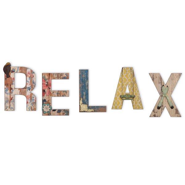 5 Piece Relax Letter Block Set by Boston International