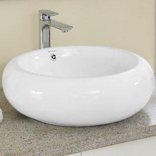 Find Plaisir® Ceramic Circular Vessel Bathroom Sink with Overflow BySwiss Madison