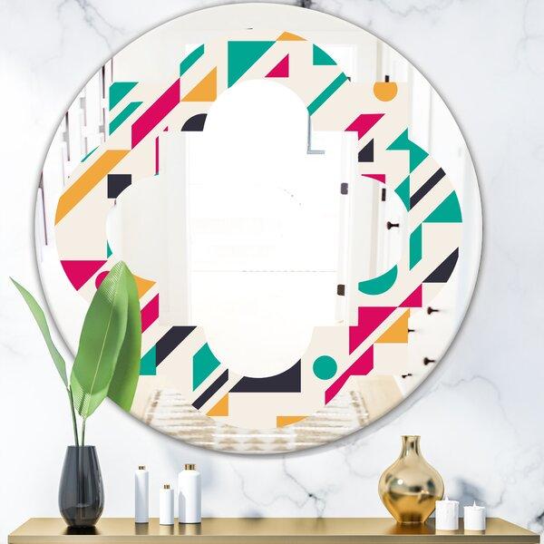 Quatrefoil Geometric Design III Modern & Contemporary Frameless Wall Mirror