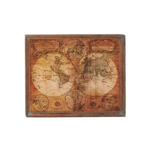World Map Framed Graphic Art by Three Posts