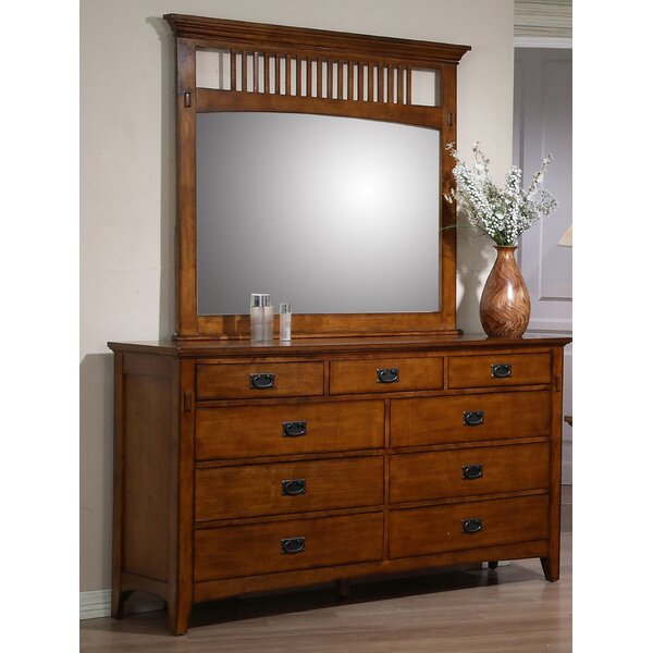 #2 Elgin 9 Drawer Dresser With Mirror By Loon Peak Discount