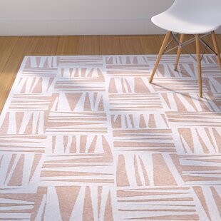 Inexpensive Drew White/Blush Area Rug By Corrigan Studio
