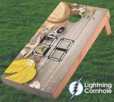 Electronic Scoring Starfish Cornhole Board by Lightning Cornhole