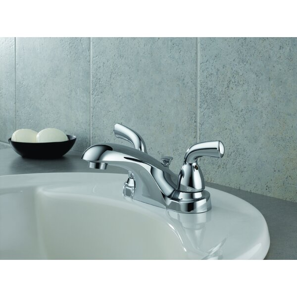 Foundations Two Handle Centerset Lavatory Faucet with Pop-Up Drain by Delta