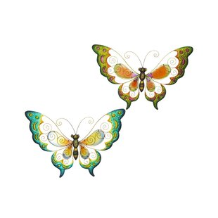 Metal Butterfly Wall Décor (Set Of 2)