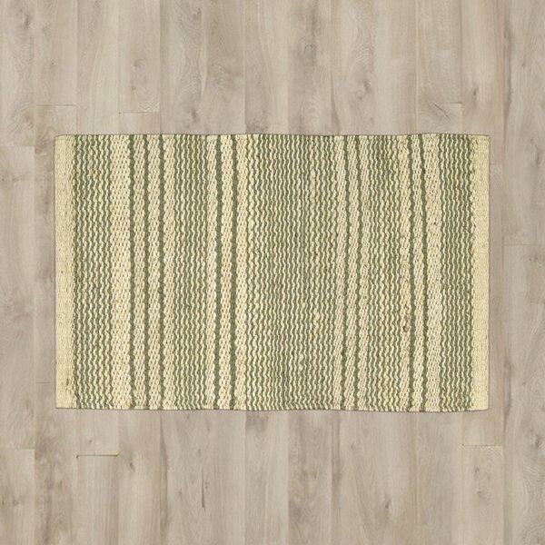 Albury Green/Cream Area Rug by Bungalow Rose