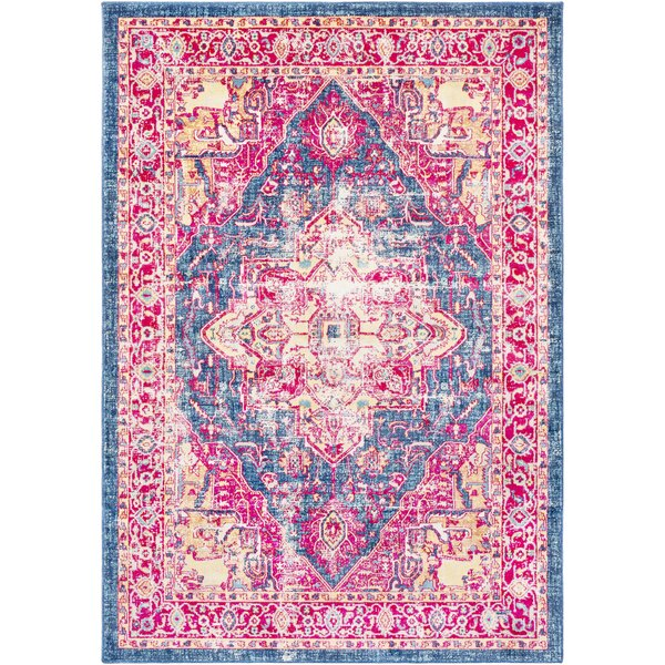 Woodward Oriental Blue Area Rug by Bungalow Rose