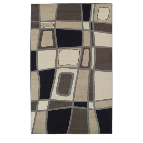 Azaleh Cobblestone Brown Area Rug by Ebern Designs
