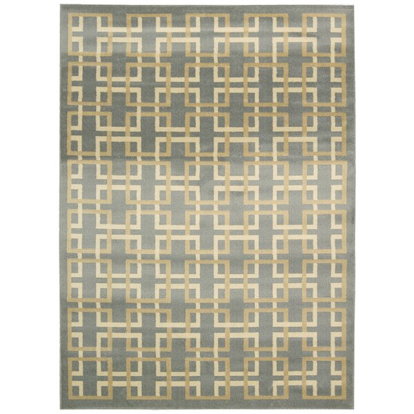 Severin Gray/Ivory Area Rug by Wrought Studio