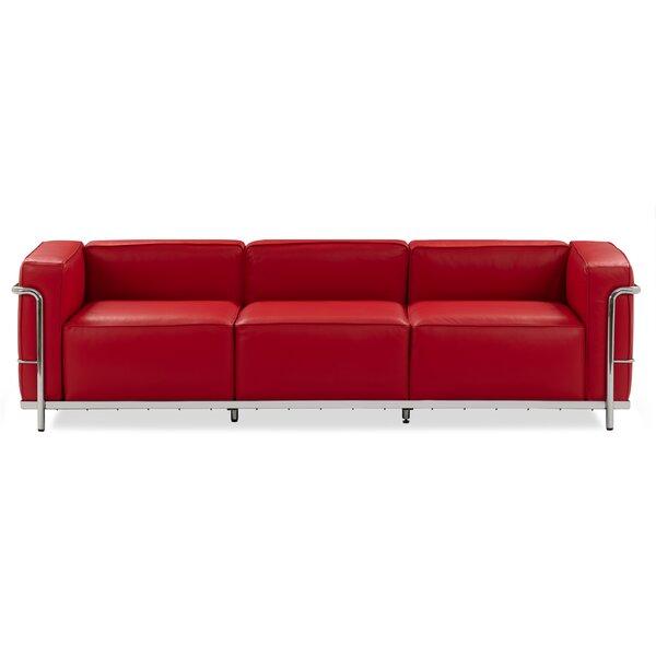Unver Leather Sofa By Ebern Designs