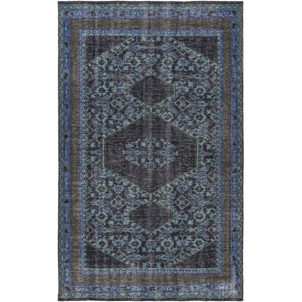 Fender Hand-Knotted Navy Area Rug by Bloomsbury Market