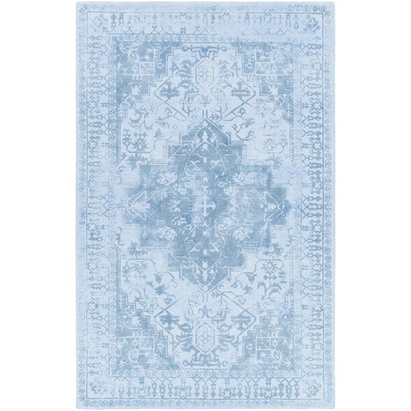 Cedargrove Hand-Tufted Blue Area Rug by Bloomsbury Market