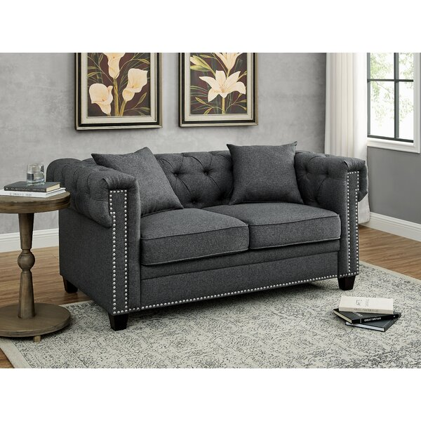 Madely Chesterfield 61'' Rolled Arm Loveseat By Red Barrel Studio