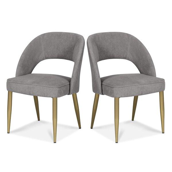 Pirro Velvet Upholstered Side Chair (Set Of 2) By Everly Quinn