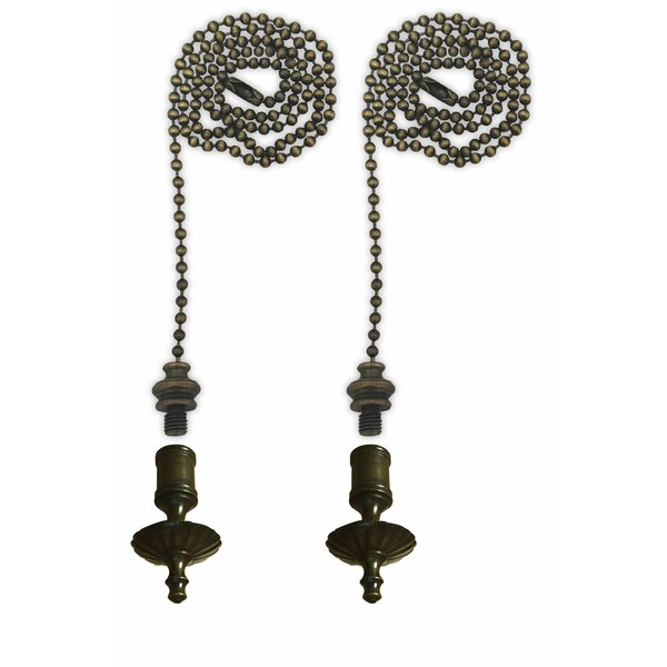 Fan Pull Chain with Umbrella Finial (Set of 2) by Royal Designs