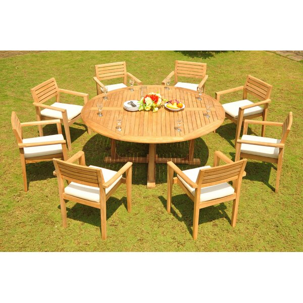 Marengo 9 Piece Teak Dining Set by Rosecliff Heights