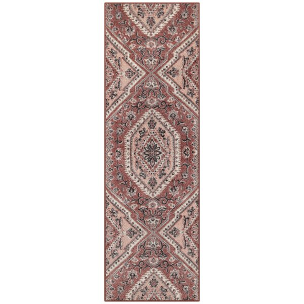 Oceanview Rose Blush Area Rug by World Menagerie