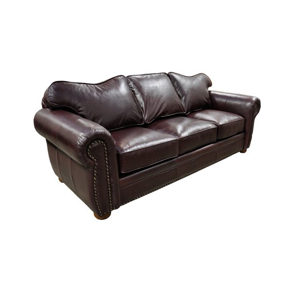 Monte Carlo Leather Sleeper Sofa by Omnia Leather Omnia Leather