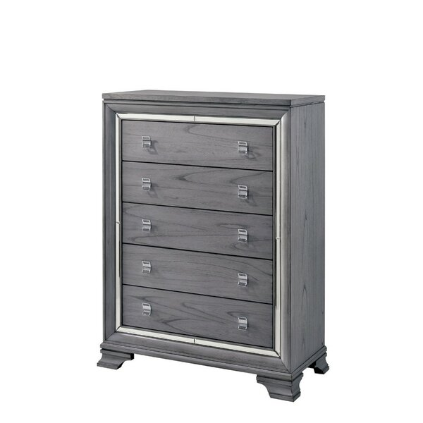 Montevia Solid Wood 5 Drawer Chest by Rosdorf Park