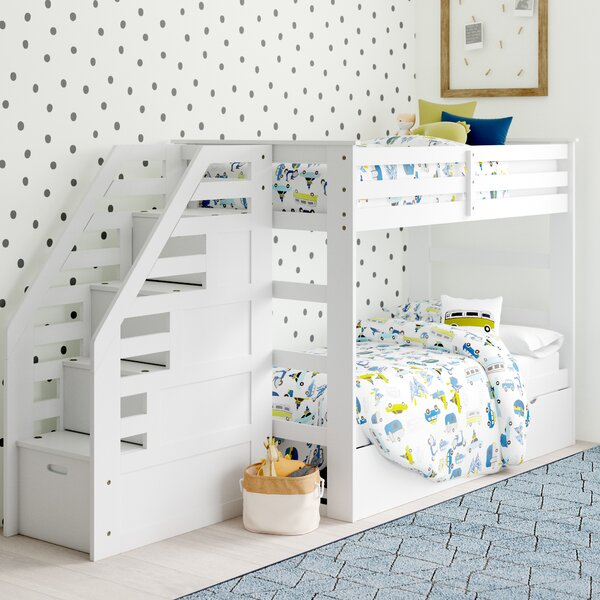 Marchan Twin Over Twin Bunk Bed with Trundle by Mack & Milo