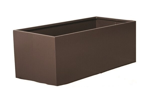Rhoton Rectangular Metal Planter Box by Latitude Run