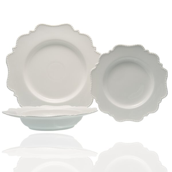 Pinpoint 18 Piece Dinnerware Set Service for 6 by Red Vanilla