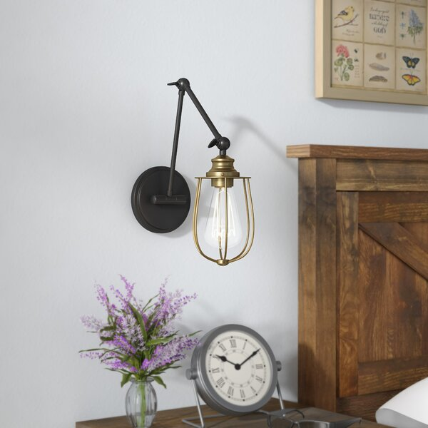 Burrell Swing Arm Lamp by Gracie Oaks