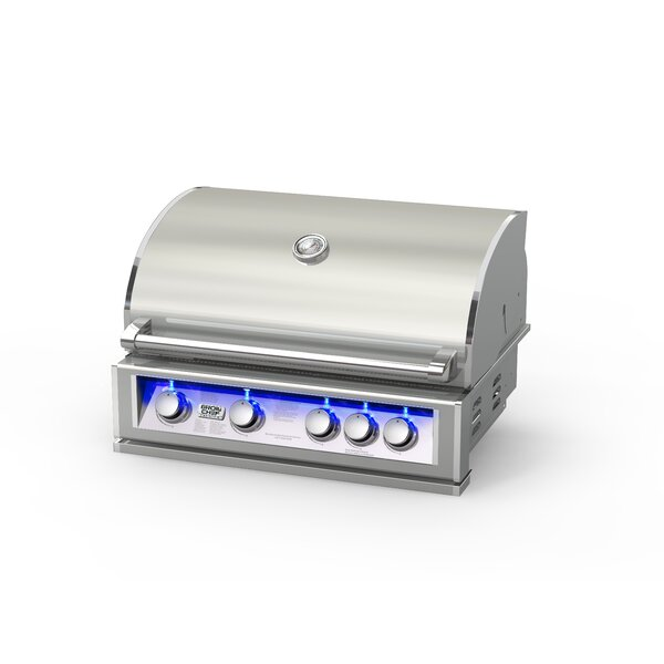 4-Burner Built-In Gas Grill by BroilChef
