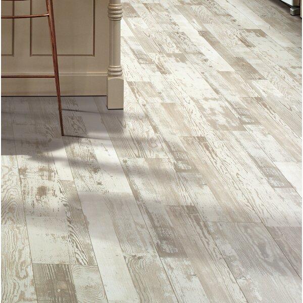 Cashe Hills 7.5 x 47.25 x 7.87mm Pine Laminate Flooring in White by Mohawk Flooring