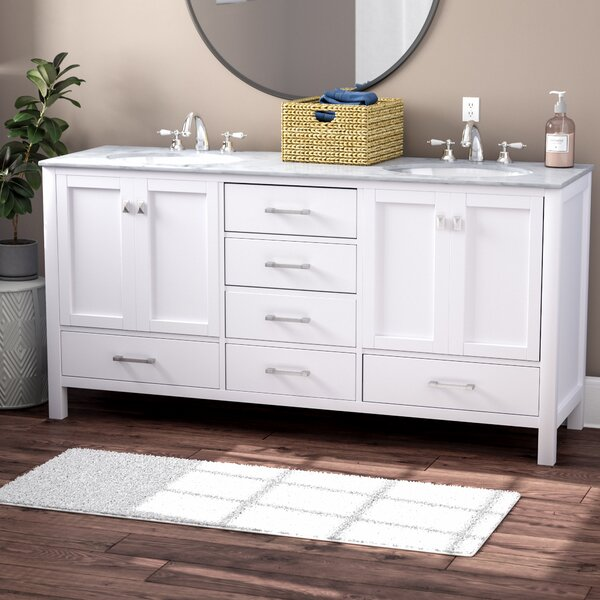 Ankney 72 Double Sink Bathroom Vanity by Brayden Studio