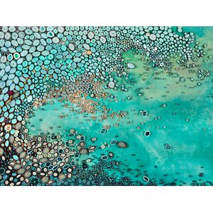 'Oceanic Lullaby' Painting Print on Wrapped Canvas by Zipcode Design