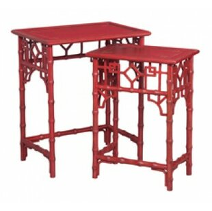 Bonsall Bamboo 2 Piece Nesting Tables by World Menagerie