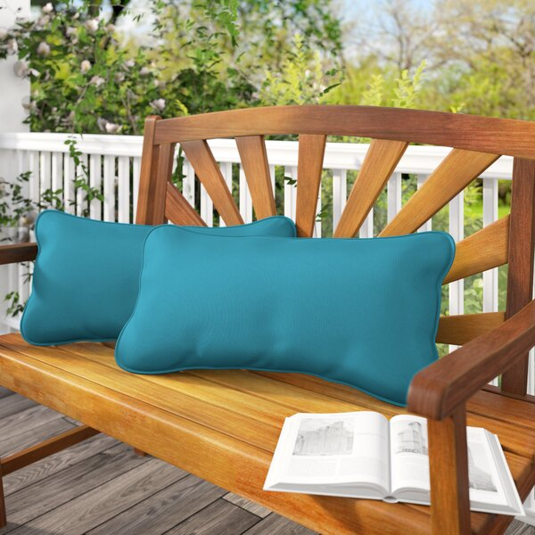 Derrytown Indoor/Outdoor Sunbrella Lumbar Pillow (Set of 2) by Beachcrest Home